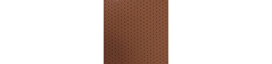 Экокожа на микрофибре Nappa с перфорацией.